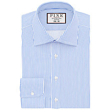 Buy Thomas Pink Grant Slim Fit XL Sleeve Stripe Shirt, Pale Blue/White Online at johnlewis.com