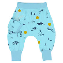 Buy No Added Sugar Baby Animal Jersey Harem Trousers, Blue Online at johnlewis.com