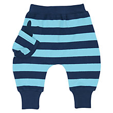 Buy No Added Sugar Baby Stripe Jersey Harem Trousers, Navy/Blue Online at johnlewis.com