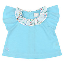Buy No Added Sugar Baby Floral Collar Top, Blue Online at johnlewis.com