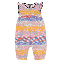 Buy No Added Sugar Baby Printed Playsuit, Yellow/Multi Online at johnlewis.com