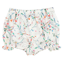 Buy No Added Sugar Baby Floral Shorts, White Online at johnlewis.com