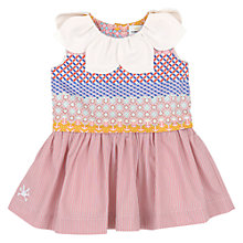 Buy No Added Sugar Geometric Stripe Petal Dress and Knickers, Pink/Multi Online at johnlewis.com