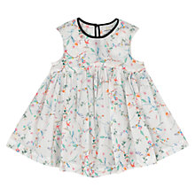 Buy No Added Sugar Baby Floral Print Dress, White Online at johnlewis.com