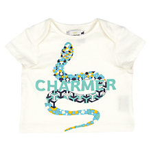 Buy No Added Sugar Baby Snake Charmer T-Shirt, White Online at johnlewis.com