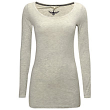 Buy White Stuff Joy Longline Jersey Tee, Grey Online at johnlewis.com