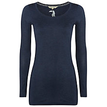 Buy White Stuff Joy Longline Jersey Tee, Navy Online at johnlewis.com