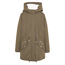 Buy Mango Long Cotton Coat Online at johnlewis.com