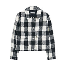 Buy Mango Square Textured Jacket, Black Online at johnlewis.com