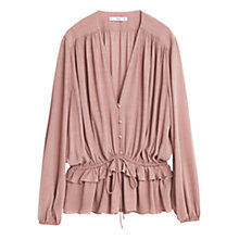 Buy Mango Fluted Hem Blouse Online at johnlewis.com