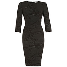 Buy Belle by Badgley Mischka Jacquard Sheath Dress, Black/Silver Online at johnlewis.com