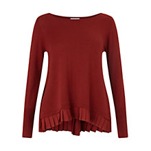 Buy East Pleat Back Jumper, Dark Red Online at johnlewis.com