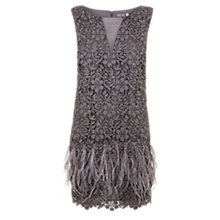 Buy Mint Velvet Lace Feather Dress, Smoke Grey Online at johnlewis.com