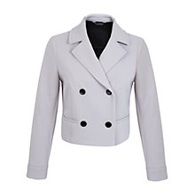 Buy Miss Selfridge Bonded Crepe Double Breasted Jacket, Dove Grey Online at johnlewis.com