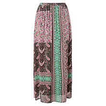 Buy East Alhambra Print Skirt, Khaki Online at johnlewis.com