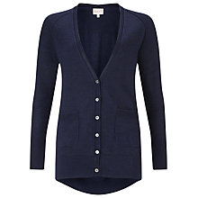 Buy East Merino Oversized Cardigan, Indigo Online at johnlewis.com