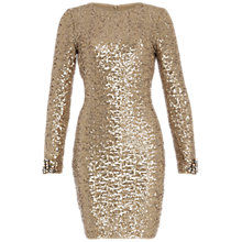 Buy Belle by Badgley Mischka Sequin Dress, Champagne Online at johnlewis.com