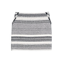 Buy Mango Striped Pattern Skirt, Black Online at johnlewis.com
