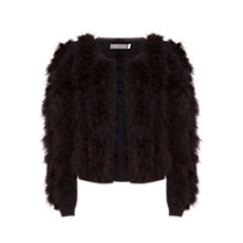 Buy Mint Velvet Feather Cardigan, Black Online at johnlewis.com