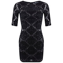 Buy Miss Selfridge Petite Rose Bodycon Dress, Multi Online at johnlewis.com