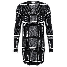 Buy Miss Selfridge Longline Jacket, Black/White Online at johnlewis.com
