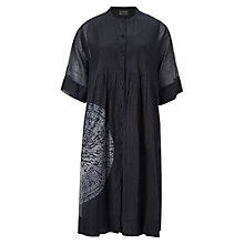 Buy East Tie Dye Circle Print Dress, Black Online at johnlewis.com