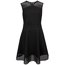 Buy Ted Baker Eleese Mesh Detail Skater Dress, Black Online at johnlewis.com