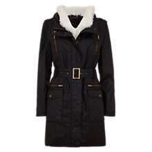 Buy Mint Velvet Military Parka, Black Online at johnlewis.com