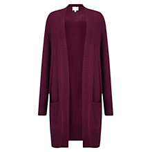 Buy East Plait Detail Cardigan, Dark Red Online at johnlewis.com