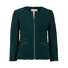 Buy White Stuff Foxy Boucle Jacket, Washington Green Online at johnlewis.com