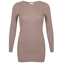 Buy Miss Selfridge Side Split Tunic Jumper, Camel Online at johnlewis.com