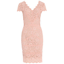 Buy Belle by Badgley Mischka Scallop Hem Lace Dress, Dusty Rose Online at johnlewis.com