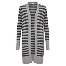 Buy East Stripe Knitted Cardigan, Grey Online at johnlewis.com