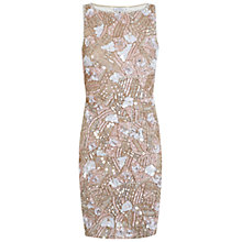 Buy Miss Selfridge Petite Embellished Bodycon Dress, Nude Online at johnlewis.com