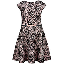 Buy Ted Baker Fearnie Belt Detail Lace Dress, Black Online at johnlewis.com