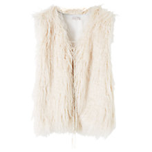 Buy East Faux Fur Gilet, Pearl Online at johnlewis.com
