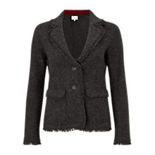 Buy East Fringe Felt Wool Blazer, Slate Online at johnlewis.com