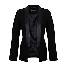 Buy Miss Selfridge Lapel Tux Blazer, Black Online at johnlewis.com