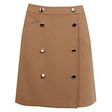 Buy Miss Selfridge Button Skirt, Camel Online at johnlewis.com