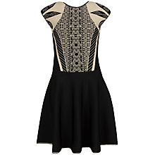 Buy Ted Baker Jenkin Knit Jacquard Skater Dress, Multi Online at johnlewis.com