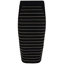 Buy Ted Baker Shelpa Stripe Knitted Midi Skirt, Jet Online at johnlewis.com