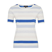 Buy Viyella Pastel Stripe Jersey Top, Ivory Online at johnlewis.com