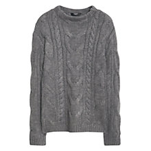 Buy Mango Mixed Knit Jumper, Medium Grey Online at johnlewis.com