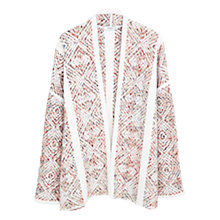 Buy Mango Ikat Print Cardigan, Light Beige Online at johnlewis.com