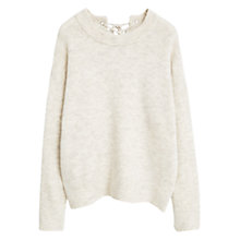Buy Mango Interwoven Drawstring Jumper, Light Pastel Grey Online at johnlewis.com