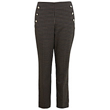 Buy Miss Selfridge Check Button Trousers, Multi Online at johnlewis.com