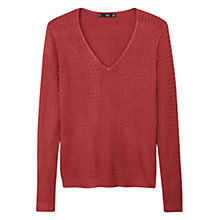 Buy Mango Cable Knit V-Neck Jumper Online at johnlewis.com