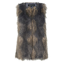Buy Warehouse Faux Fur Gilet, Multi Online at johnlewis.com