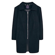 Buy Violeta by Mango Side Zip Wool Coat, Black Online at johnlewis.com
