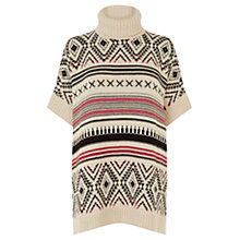 Buy Warehouse Fairisle Poncho, Multi Online at johnlewis.com
